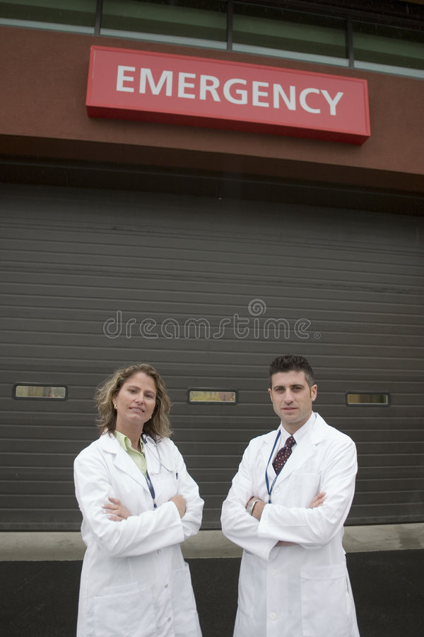 νοσοκομείο του ER 2 γιατρώ& στοκ εικόνες