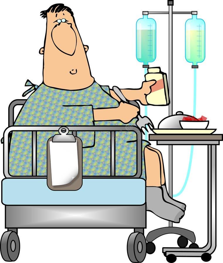 νοσοκομείο τροφίμων ελεύθερη απεικόνιση δικαιώματος