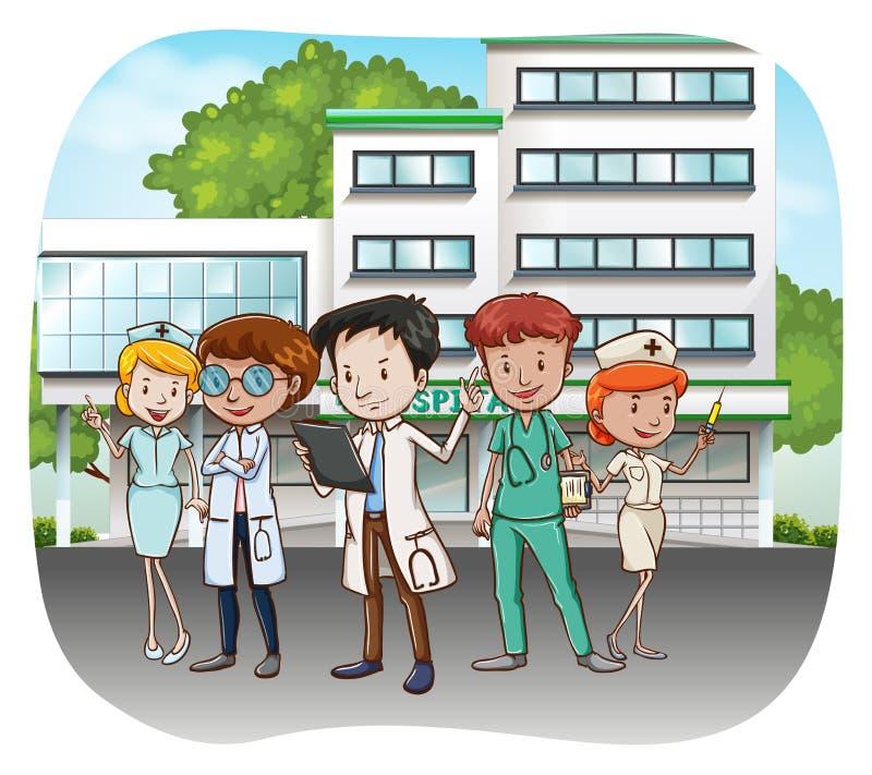 Νοσοκομείο ελεύθερη απεικόνιση δικαιώματος