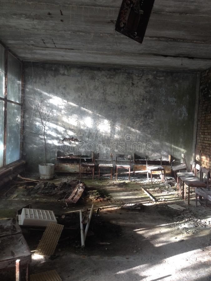 Νοσοκομείο, Pripyat στοκ φωτογραφίες
