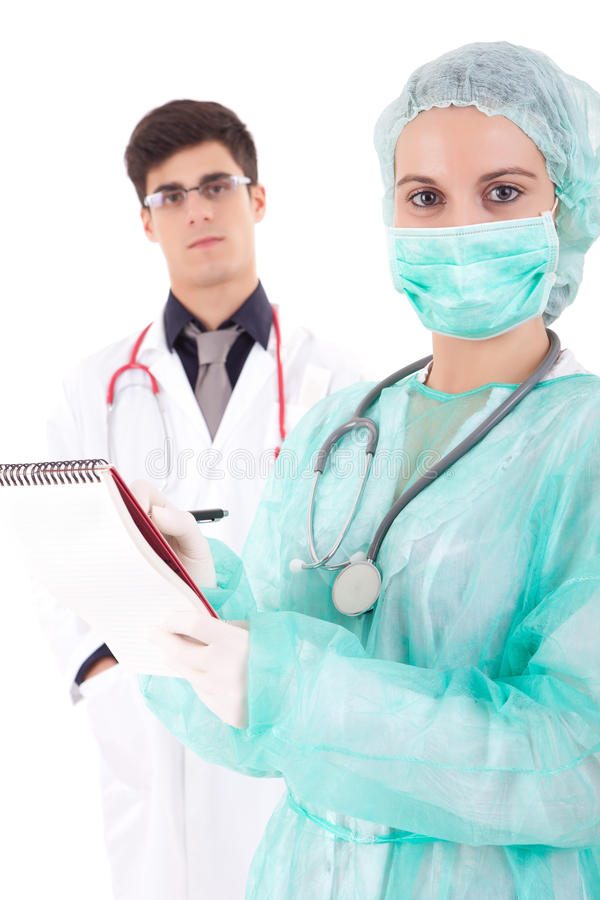 Νοσοκόμα και γιατρός στοκ εικόνα με δικαίωμα ελεύθερης χρήσης