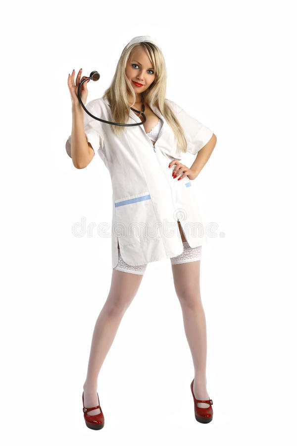 νοσοκόμα σεξουαλική στοκ φωτογραφία
