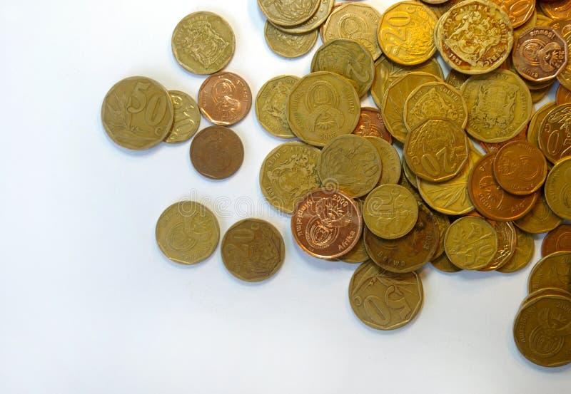 Νοτιοαφρικανικά χρήματα νομισμάτων στοκ φωτογραφία με δικαίωμα ελεύθερης χρήσης