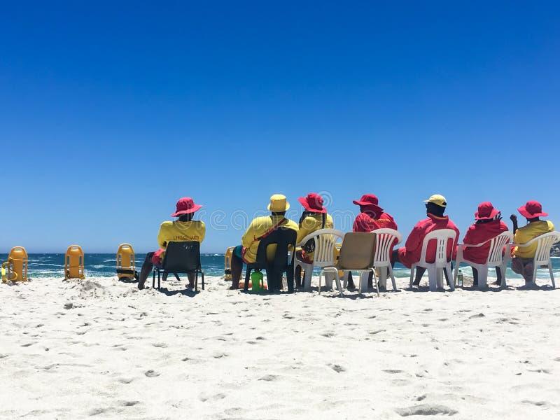 Νοτιοαφρικανικά lifeguards στο καθήκον στοκ φωτογραφίες με δικαίωμα ελεύθερης χρήσης
