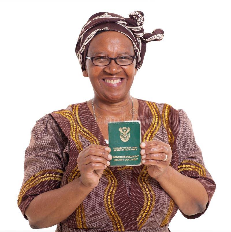 Νοτιοαφρικανική ανώτερη γυναίκα στοκ φωτογραφία με δικαίωμα ελεύθερης χρήσης