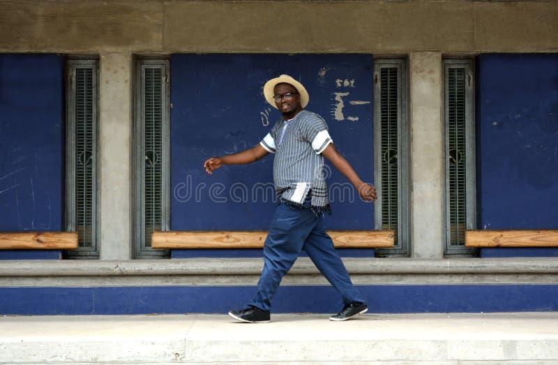 Νοτιοαφρικανικό ευτυχές περπάτημα ατόμων στοκ εικόνες