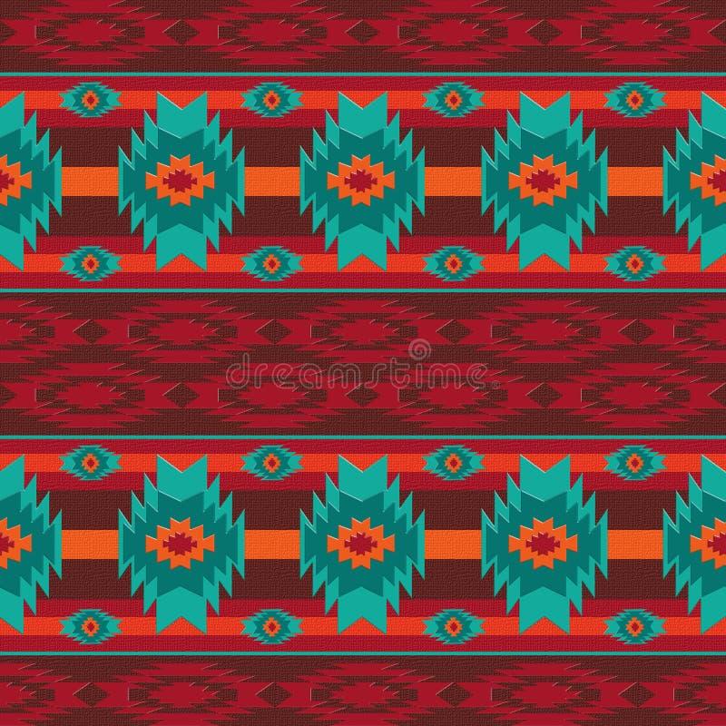 Νοτιοδυτικό άνευ ραφής σχέδιο Ναβάχο στοκ φωτογραφία με δικαίωμα ελεύθερης χρήσης