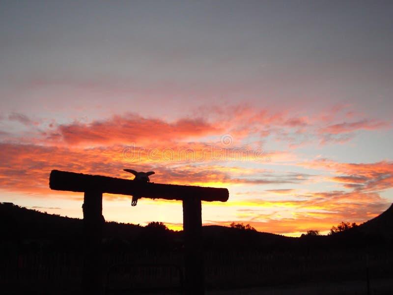 Νοτιοδυτικό ηλιοβασίλεμα στοκ φωτογραφίες