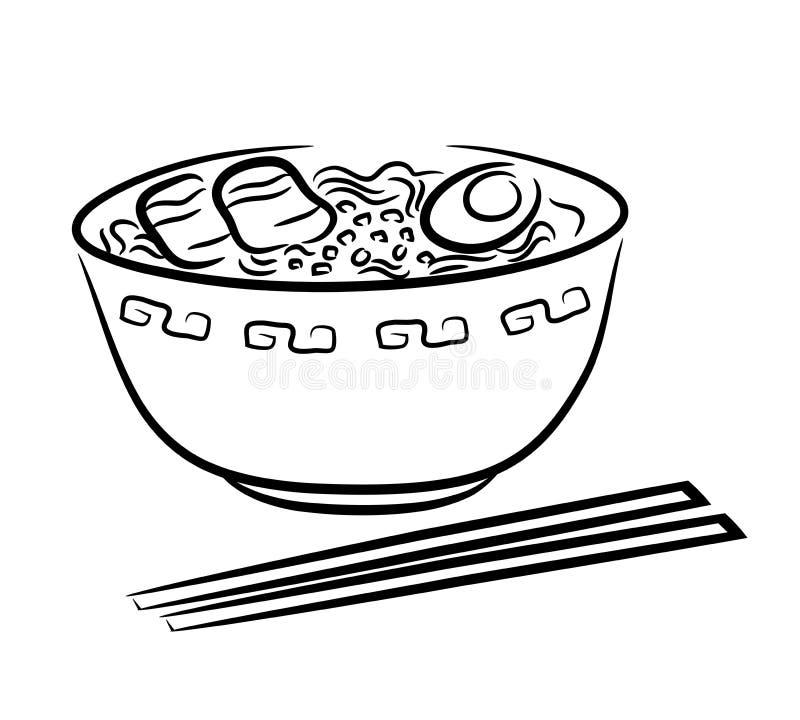 Νουντλς Ramen απεικόνιση αποθεμάτων