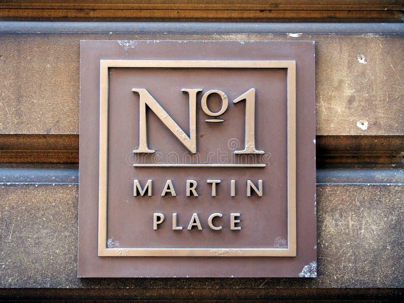 Νο 1 σημάδι οδών θέσεων του Martin στοκ φωτογραφίες με δικαίωμα ελεύθερης χρήσης
