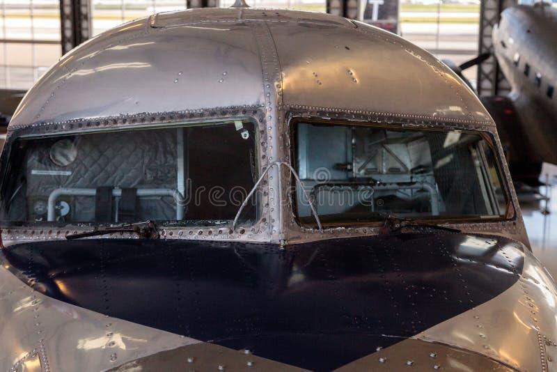 Ντάγκλας ρεύμα-3 αποκαλούμενη αεροπλάνο ναυαρχίδα Κομητεία Orange στοκ φωτογραφία με δικαίωμα ελεύθερης χρήσης