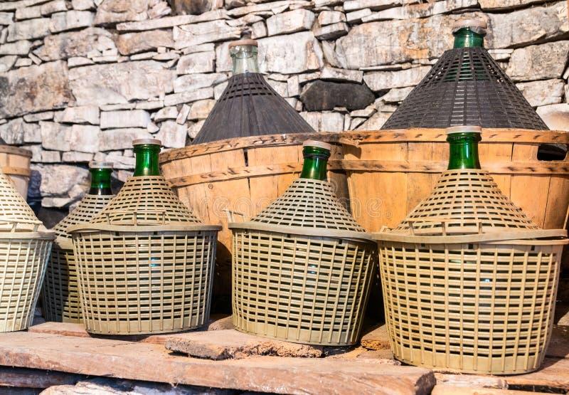 Νταμιτζάνες του κρασιού στοκ εικόνα