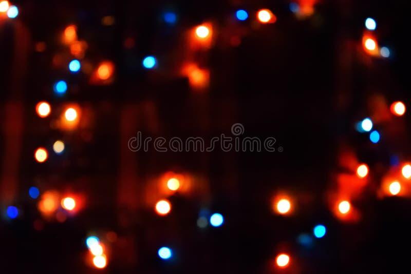 Ντεκόρ λαμπών φωτός Γιρλάντα με στοκ εικόνες