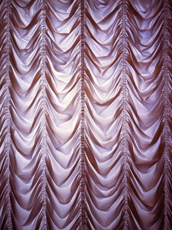 Ντεμοντέ κουρτίνα πολυτέλειας στοκ φωτογραφία