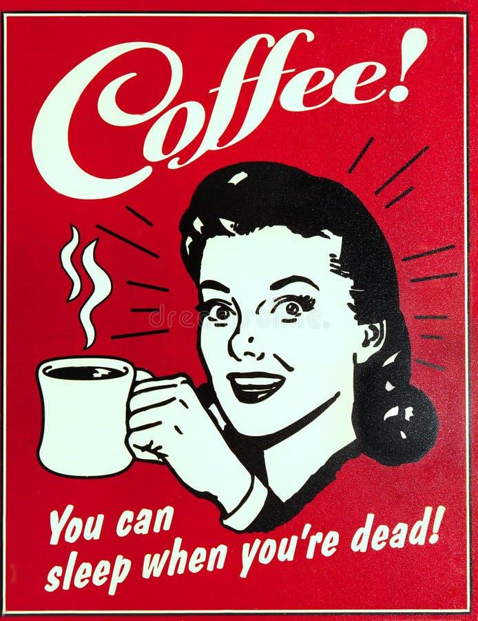 Ντεμοντέ σημάδι καφέδων διανυσματική απεικόνιση