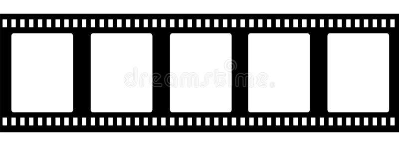 Ντεμοντέ filmstrip 35mm που απομονώνεται διανυσματική απεικόνιση