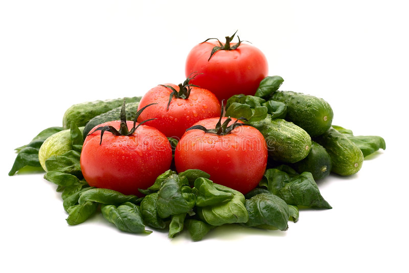 ντομάτα βασιλικού στοκ φωτογραφίες με δικαίωμα ελεύθερης χρήσης