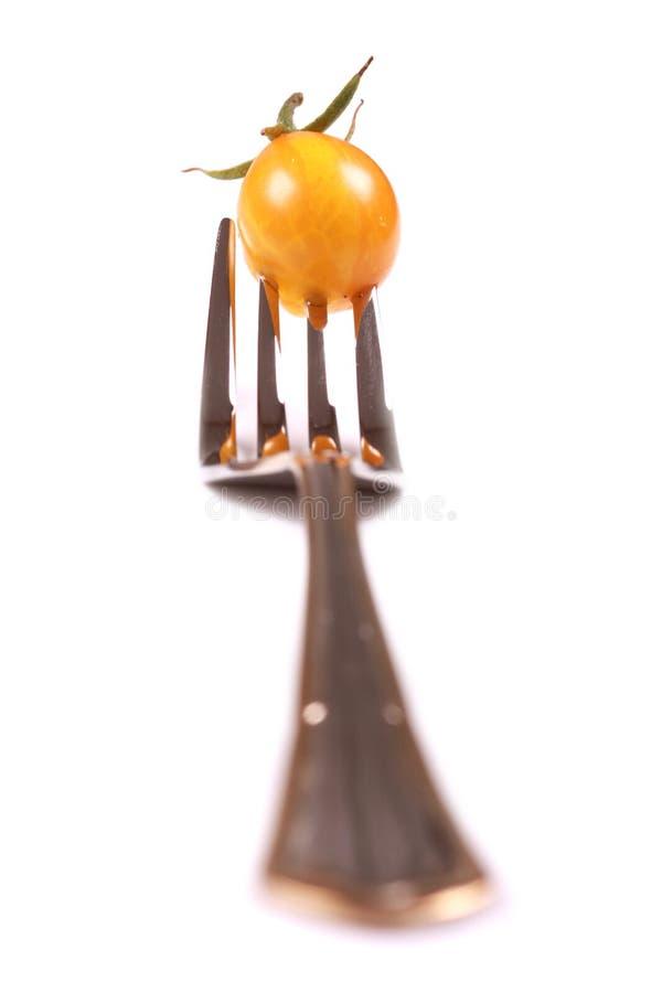 ντομάτα δικράνων κίτρινη στοκ φωτογραφίες με δικαίωμα ελεύθερης χρήσης