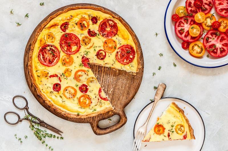 Ντομάτα και θυμάρι ξινές στοκ φωτογραφία με δικαίωμα ελεύθερης χρήσης