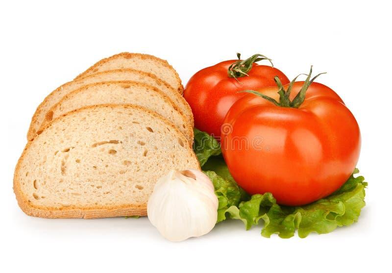 ντομάτα κρεμμυδιών ψωμιού στοκ εικόνες με δικαίωμα ελεύθερης χρήσης