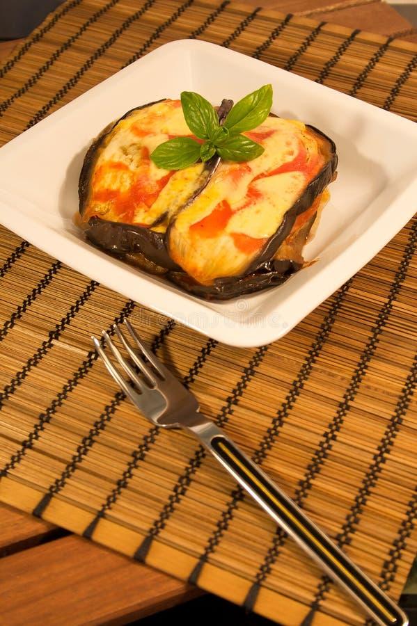 ντομάτα μελιτζάνας τυριών στοκ φωτογραφία με δικαίωμα ελεύθερης χρήσης