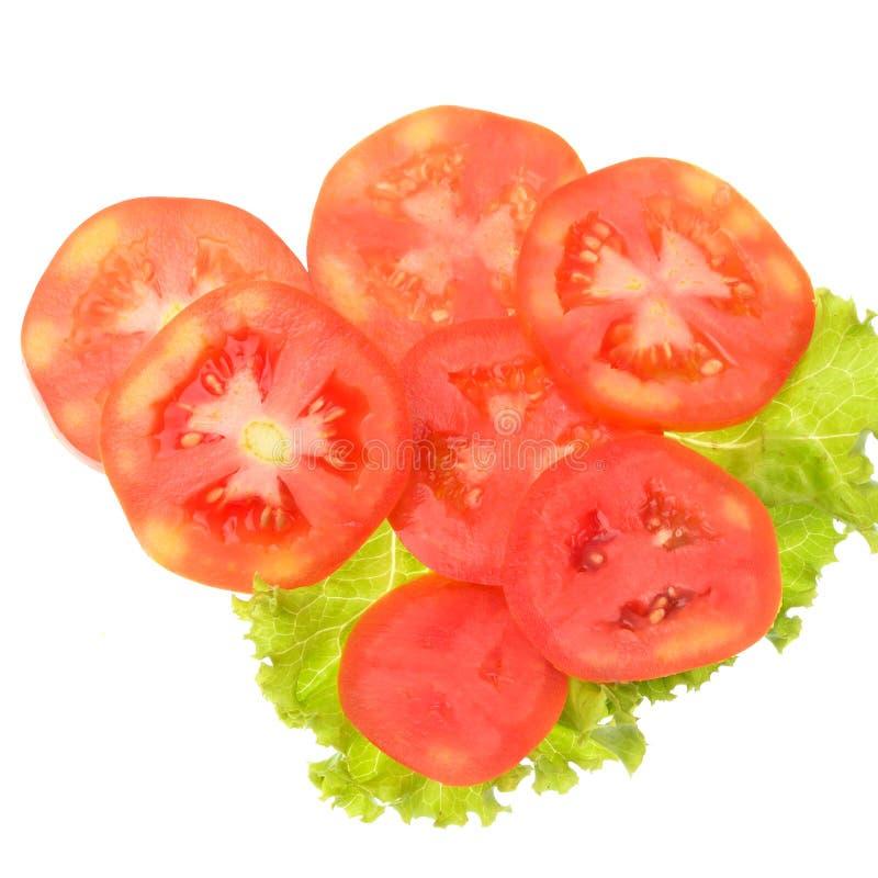 Ντομάτα που τεμαχίζεται που απομονώνεται στο άσπρο υπόβαθρο στοκ εικόνες με δικαίωμα ελεύθερης χρήσης