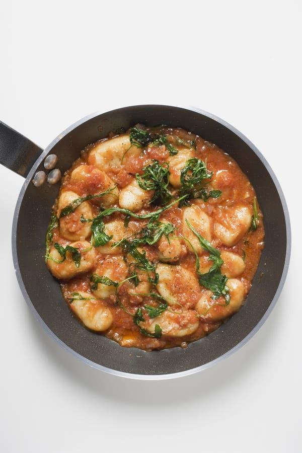 ντομάτα σάλτσας gnocchi στοκ φωτογραφίες με δικαίωμα ελεύθερης χρήσης