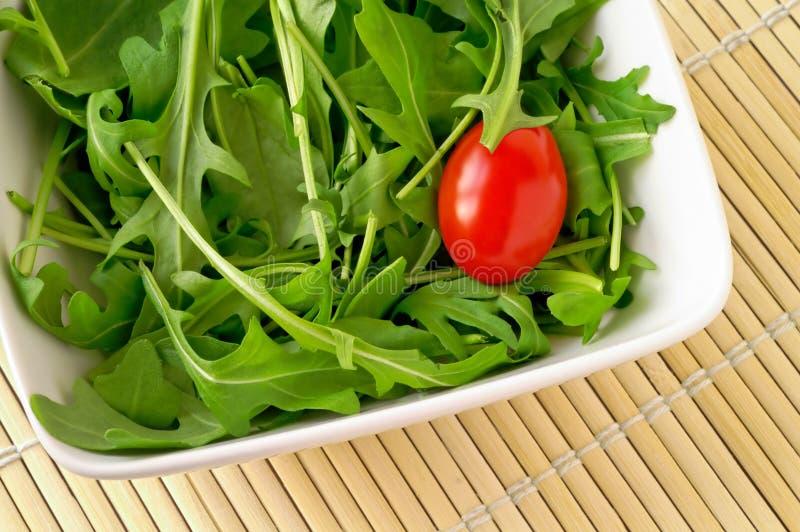 ντομάτα σαλάτας κερασιών arugula στοκ φωτογραφίες με δικαίωμα ελεύθερης χρήσης