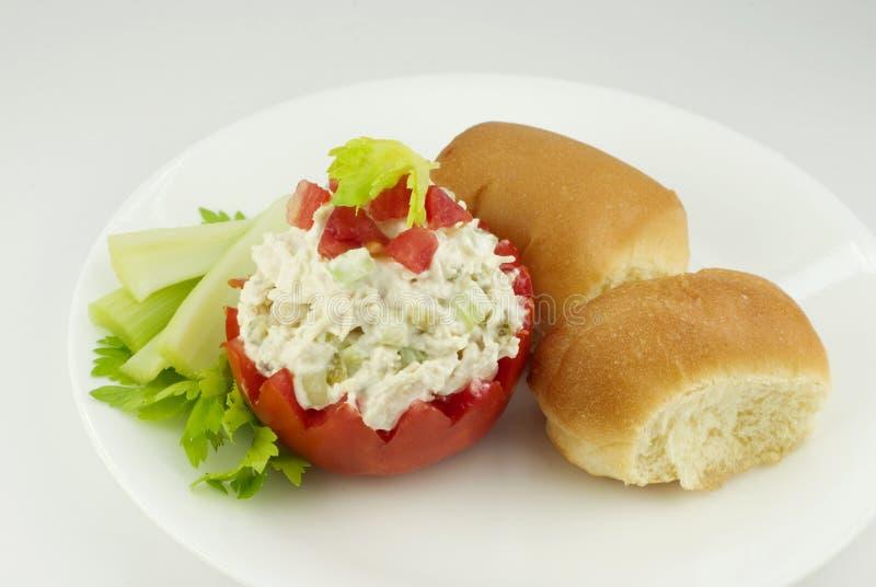 ντομάτα σαλάτας κοτόπου&lambd στοκ εικόνες με δικαίωμα ελεύθερης χρήσης