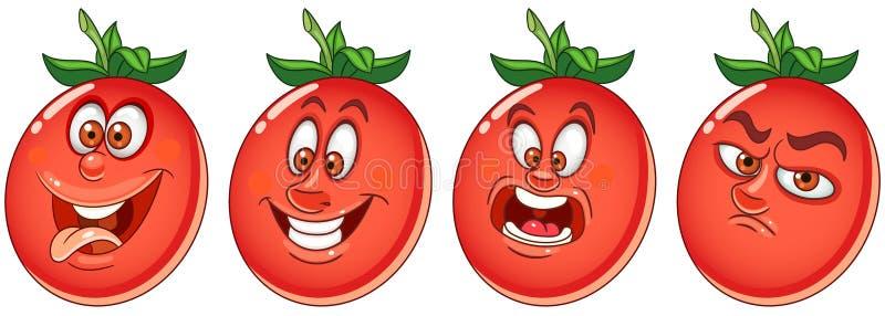 Ντομάτα Φυτική έννοια τροφίμων διανυσματική απεικόνιση