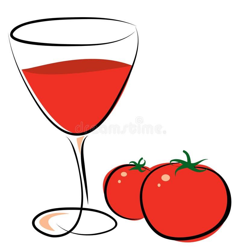 ντομάτα χυμού ελεύθερη απεικόνιση δικαιώματος