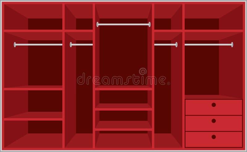ντουλάπα δωματίων επίπλων απεικόνιση αποθεμάτων