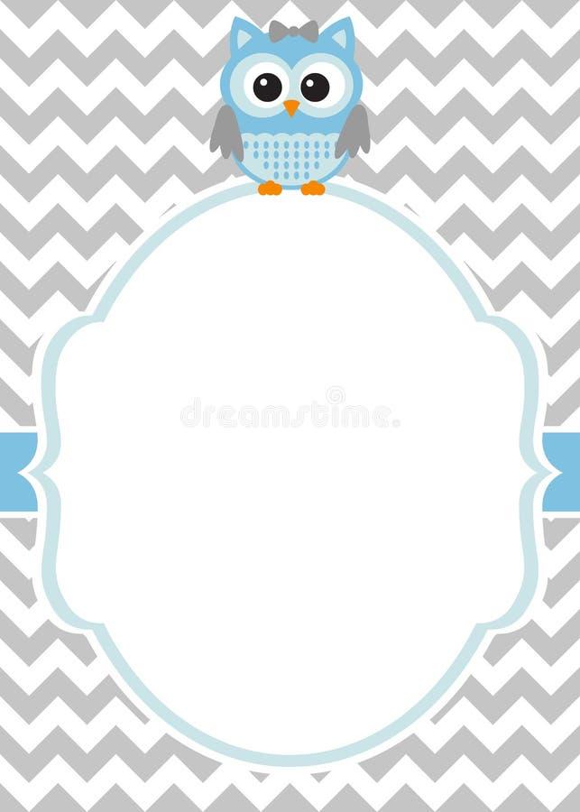 Ντους μωρών - πρότυπο καρτών πρόσκλησης αγοράκι διανυσματική απεικόνιση