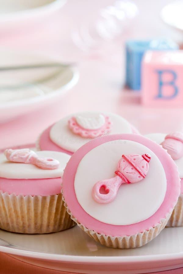 ντους μωρών cupcakes στοκ φωτογραφίες με δικαίωμα ελεύθερης χρήσης