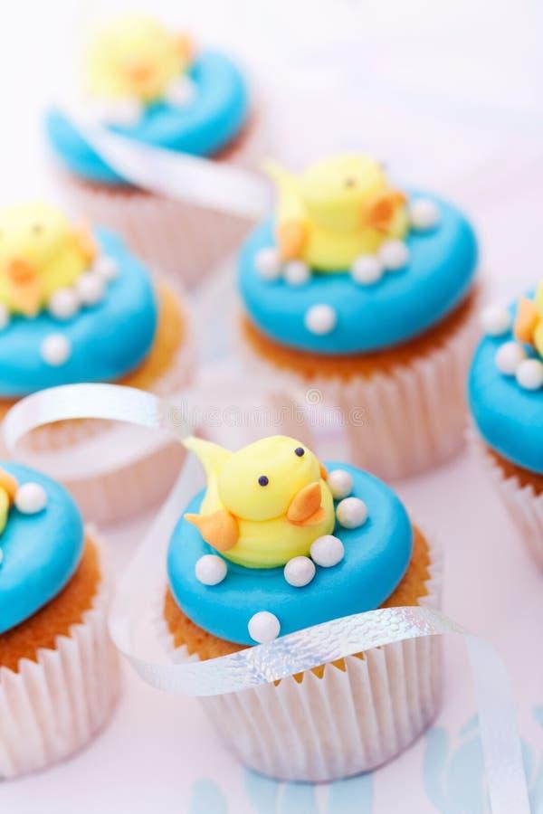 Ντους μωρών cupcakes στοκ εικόνα με δικαίωμα ελεύθερης χρήσης
