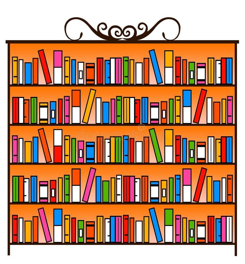 Ντουλάπι βιβλίων διανυσματική απεικόνιση