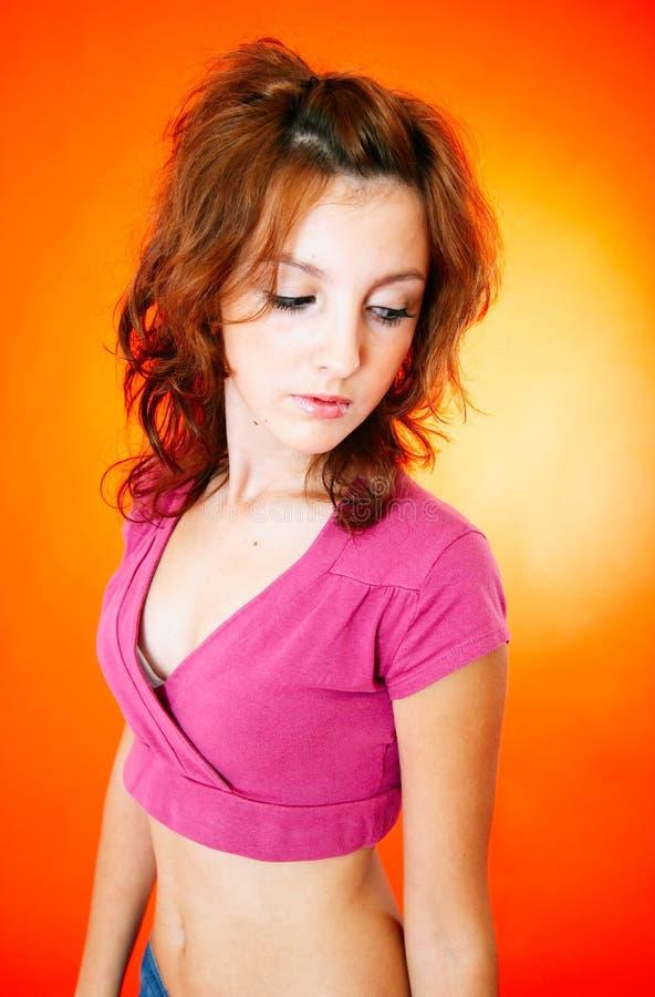 ντροπαλές νεολαίες κοριτσιών στοκ εικόνες