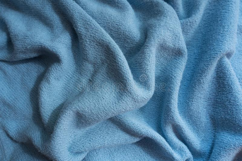 Ντυμένο μπλε ύφασμα ουρανού χωρίς τυπωμένες ύλες στοκ φωτογραφία με δικαίωμα ελεύθερης χρήσης