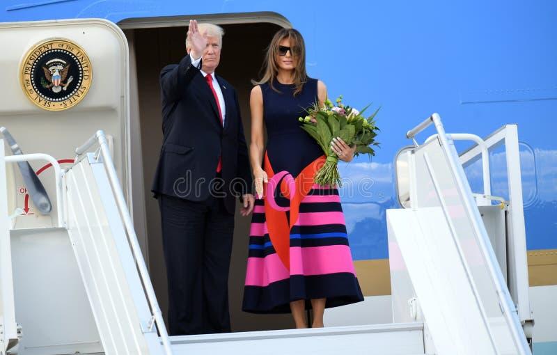 Ντόναλντ Τραμπ και Melania Trump στοκ φωτογραφίες με δικαίωμα ελεύθερης χρήσης