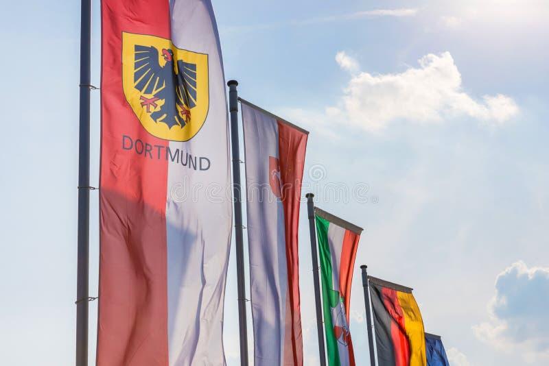 Ντόρτμουντ και άλλες σημαίες Γερμανία στοκ φωτογραφίες με δικαίωμα ελεύθερης χρήσης