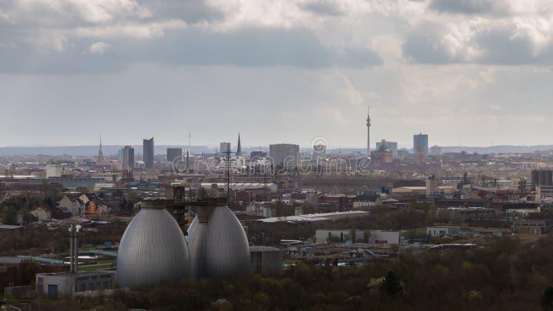 Ντόρτμουντ, που βλέπει από Deusenberg, Γερμανία στοκ φωτογραφίες