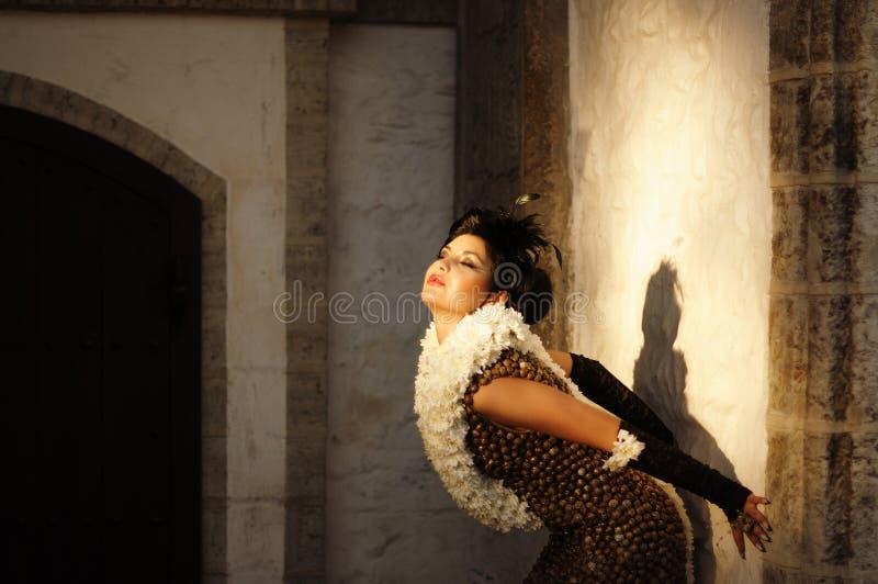 ντύνοντας σαγηνευτική εκλεκτής ποιότητας γυναίκα στοκ εικόνες με δικαίωμα ελεύθερης χρήσης