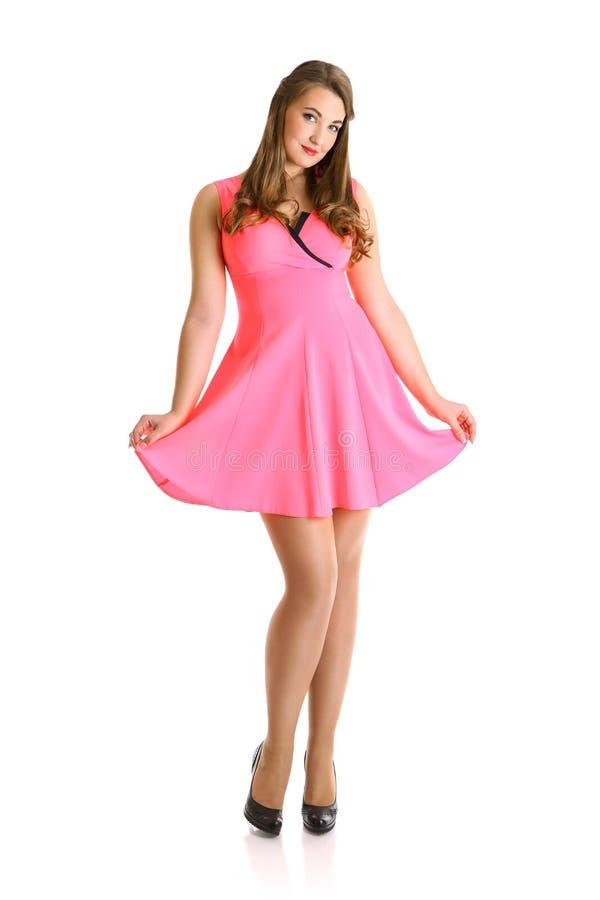 ντύστε το ροζ κοριτσιών στοκ φωτογραφία