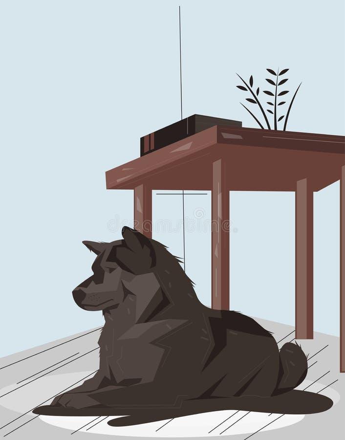 Νυσταλέα συνεδρίαση σκυλιών να ονειρευτεί δωματίων ελεύθερη απεικόνιση δικαιώματος