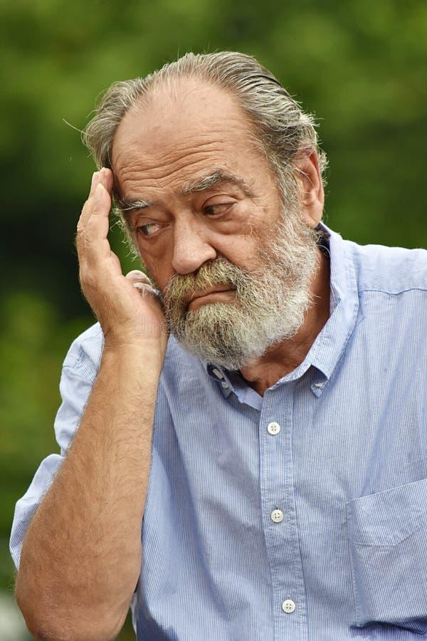 Νυσταλέο αρσενικό Grandpa στοκ φωτογραφία