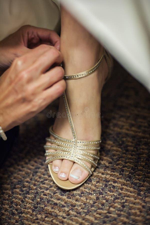 νυφικά ρόδινα παπούτσια στοκ εικόνα με δικαίωμα ελεύθερης χρήσης