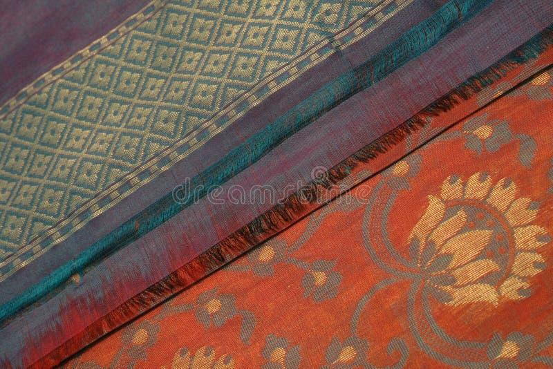 νυφικό μετάξι saree 3 benares στοκ φωτογραφίες με δικαίωμα ελεύθερης χρήσης