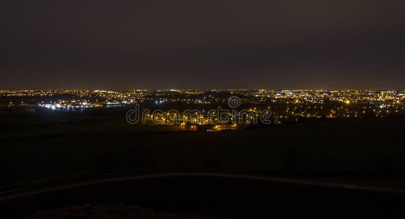 Νυχτερινή εικονική παράσταση πόλης Wakefield στοκ φωτογραφία