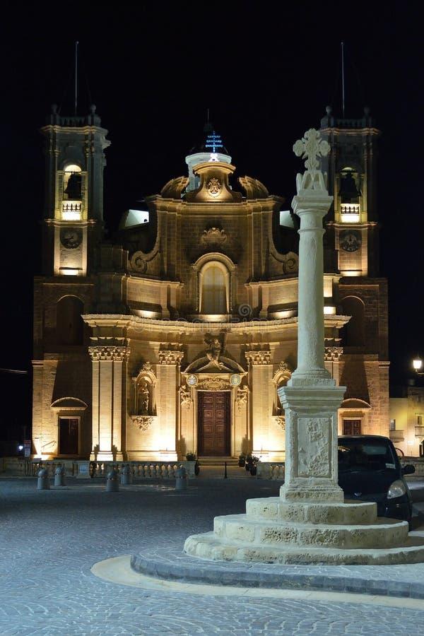 Νυχτερινή εκκλησία στοκ εικόνες