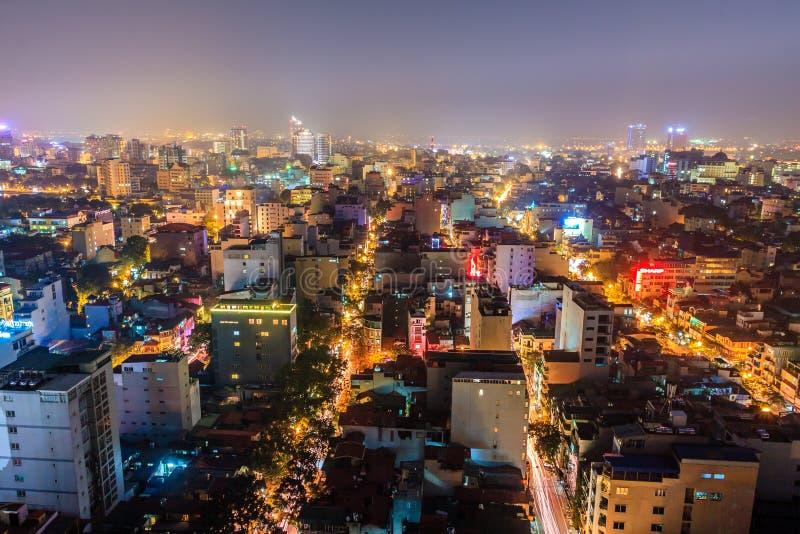 Νυχτερινή ζωή στο Ανόι στοκ εικόνες